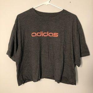 Adidas Oversized Cropped T-Shirt
